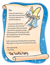 Tooth Fairy Letter - Pediatric Dentist in Mechanicsburg and Harrisburg, PA